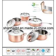 3 Ply Body All-Clad Copper 10PCS Cookware Set