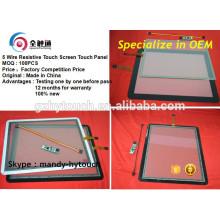 Para el monitor de la posición impermeable 10 pulgadas 12.1 pulgadas pantalla táctil con 5 alambres FPC