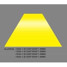 Feve Gloss Yellow Aluminum Sheet Plate 1.6mmThick 5052 H32 1500*3000mm