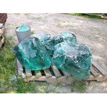 Transparent colorful glass rocks