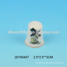 Factory direct sale handmade ceramic thimble sewing for souvenirs