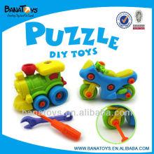 Brinquedo diy brinquedo auto montagem brinquedo moto e trem