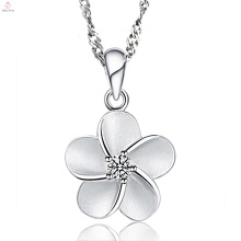 Sterling 925 Серебряный Цветок Цепь Ювелирные Изделия Ожерелье