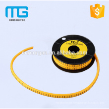 1.5mm2 Yellow number cable marker cable sleeve with PVC material ,available in various colors , CE approval
