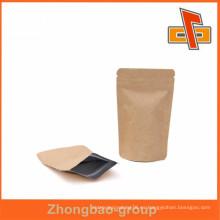 Alibaba al por mayor personalizado kraft bolsa de café con papel de aluminio o válvula