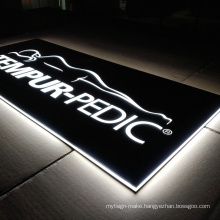 Advertising Led Light Letter Logo Acrylic Lightbox Sign Board Designs Shops Restaurant Lightbox