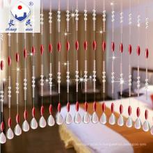 larmes drop forme cristal rideau de perles pour la décoration de mariage 2016