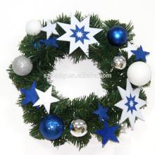 30см горячая Продажа Рождественский венок с украшениями