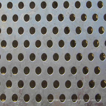 Hoja de malla de metal perforado galvanizado