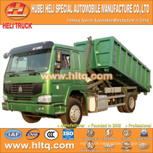 SINOTRUK 4X2 10cubic hook lift garbage truck 266hp hot sale with high performance in China