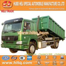 SINOTRUK 4X2 10cubic hook lift lixo caminhão 266hp venda quente com alto desempenho na China