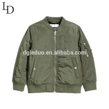 Novo design crianças roupas outono beisebol bebê menino jaqueta
