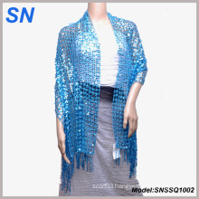 Sparkling Sequined Scarves Wrap Shawl for Women