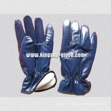 Nitrile Laminated Full Acrylic Pile Winter Work Glove-5403bl