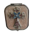 Jeweled Croix miroirs de maquillage