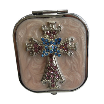 Jeweled Kreuz Make-up Spiegel