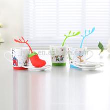2015 nuevas tazas de cerámica de la Navidad del diseño