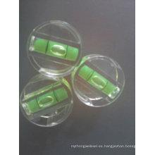 Vial de nivel de burbujas de plástico