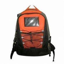 Solar Energy Backpack with Comfortable and Fashionable, Customized Logos Available