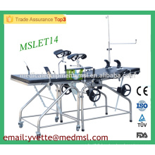 MSLET14M Best price Stainless steel delivery bed Adjustable Delivery Bed in hospital