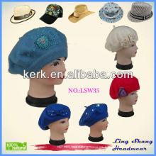 La lana caliente de la venta el 100% lechó el sombrero superior, lsw35