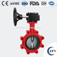 Handle lever acid-resistant lug type butterfly valve