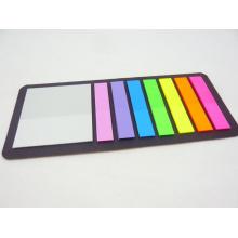 Fluoreszierende Farbe Film Pet Index Haftnotizen (9609)
