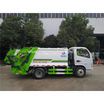 Small compactor capacity of garbage truck