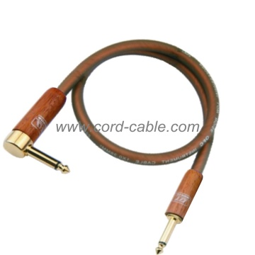 DML serie profesional del instrumento guitarra Cable Jack 90° a Jack