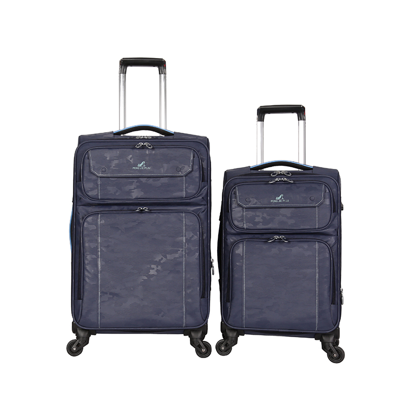 Fabric Polyester suitcase with simple front spinner wheels