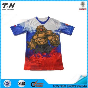Camiseta de ajuste seco de la impresión completa de los hombres de encargo