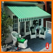 Durable foldable outdoor semi cassette awning/ canopy rain protect outdoor awning