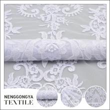 Фабрики сразу изготовленный на заказ дешевой цене тюль полиэстер белая лента вышивка
