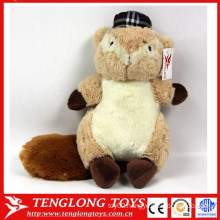high quality cutest wholesale lovely soft plush toys squirrel plush toys factory made