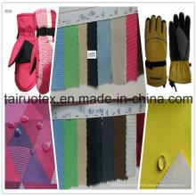100% poliéster Taslon con impermeable para ropa de guantes