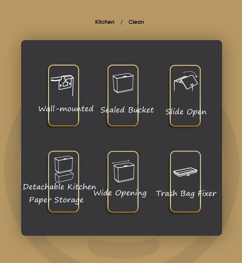 In-cabinet trash bin
