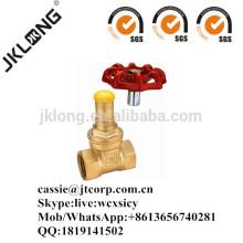 J1012 Latão válvula de portão bloqueável