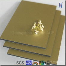 Decoração de interiores Espelho de ouro Painel composto de alumínio Fabricante