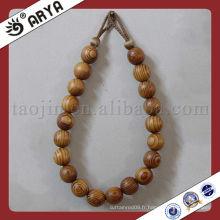Perles en bois glands décoratifs pour rideau