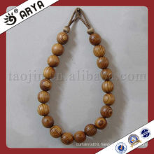 wooden beads decorative tassels for curtain