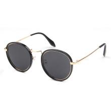 Nuevas gafas de sol de moda redondas, gafas de sol metálicas.