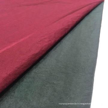 Stock 100% Nylon Shiny Crinkle Tissé Textile Tissu de vêtement