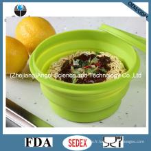 Bol de nourriture à 100% de qualité alimentaire à base de silicone avec couvercle 830ml Sfb07