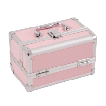 small pink aluminum hairdressing tool make up case