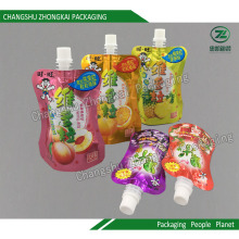 Stand up Spout Pouch Bolsa de embalagem de plástico para suco líquido