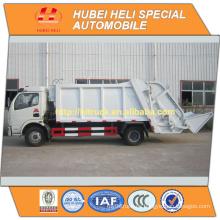 DONGFENG 4x2 6m3 camión de basura cargadora trasera 120HP