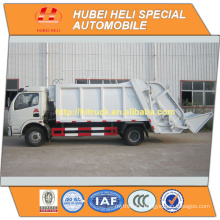 DONGFENG 4x2 6m3 garbage truck rear loader 120HP