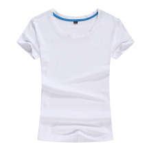 100%Cotton Fashion Women′s Round Neck Tshirt Tee Shirt (TW-035)