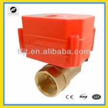 Válvula de control eléctrica de par 9-24V mini y más grande con 6Nm para controlar el flujo de agua y desconexión
