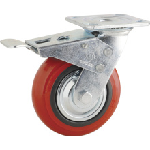 Double Ball Bearing PP Total Brake Type Caster (KHX3-H5)